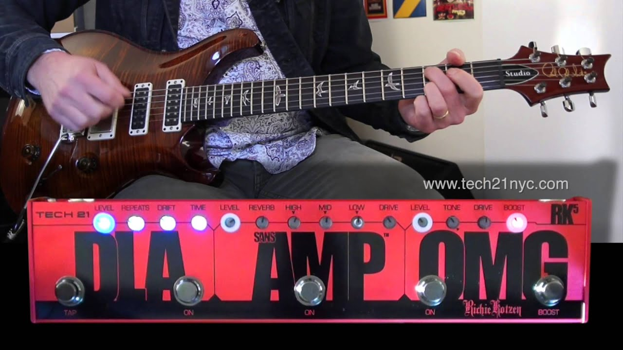 tech 21 nyc richie kotzen rk5 sansamp to and with loop