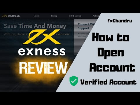 How to open and Verify Exness account   forex trading account   best forex broker   FxChandru