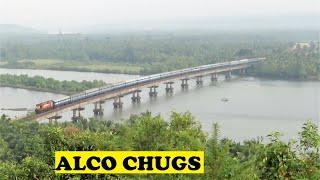 WDM3A Ernakulam Pune Poorna Sharavathi Bridge