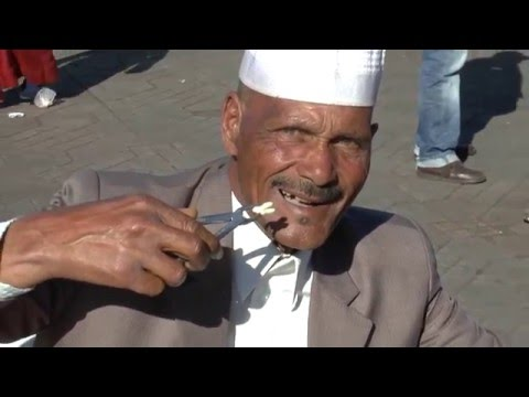 Dental Extractions at Jemaa El Fna Square, Marrakech, Morocco