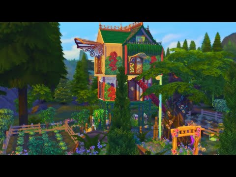 LA MAISON ENCHANTE # 2 // speed build d'une mini maison sans cc - sims 4