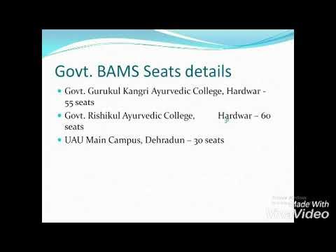 Uttarakhand NEET 2018 bams counselling