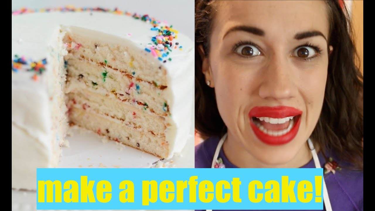 how to make a perfect cake youtube