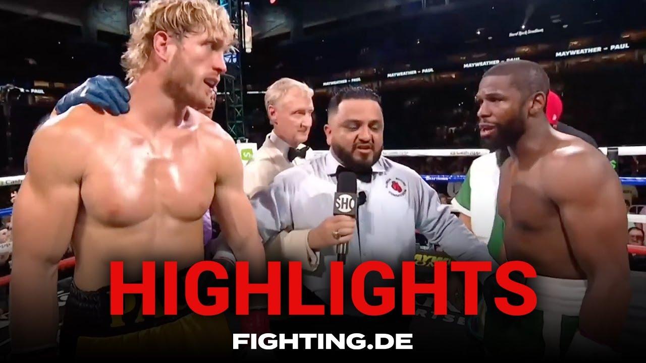 Highlights: Floyd Mayweather vs Logan Paul - Deutsch- FIGHTING - YouTube