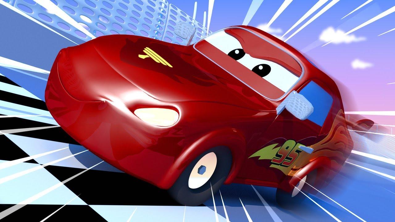 Jerry Menjadi Lightning Mcqueen Dari Film Cars Sanggar Lukis Tom Truk Kartun Untuk Anak Anak Youtube