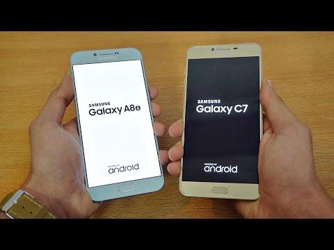 Samsung Galaxy A8 (2016) vs Galaxy C7 - Speed Test! (4K)