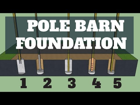 Pole Barn Foundation Options - UPDATED