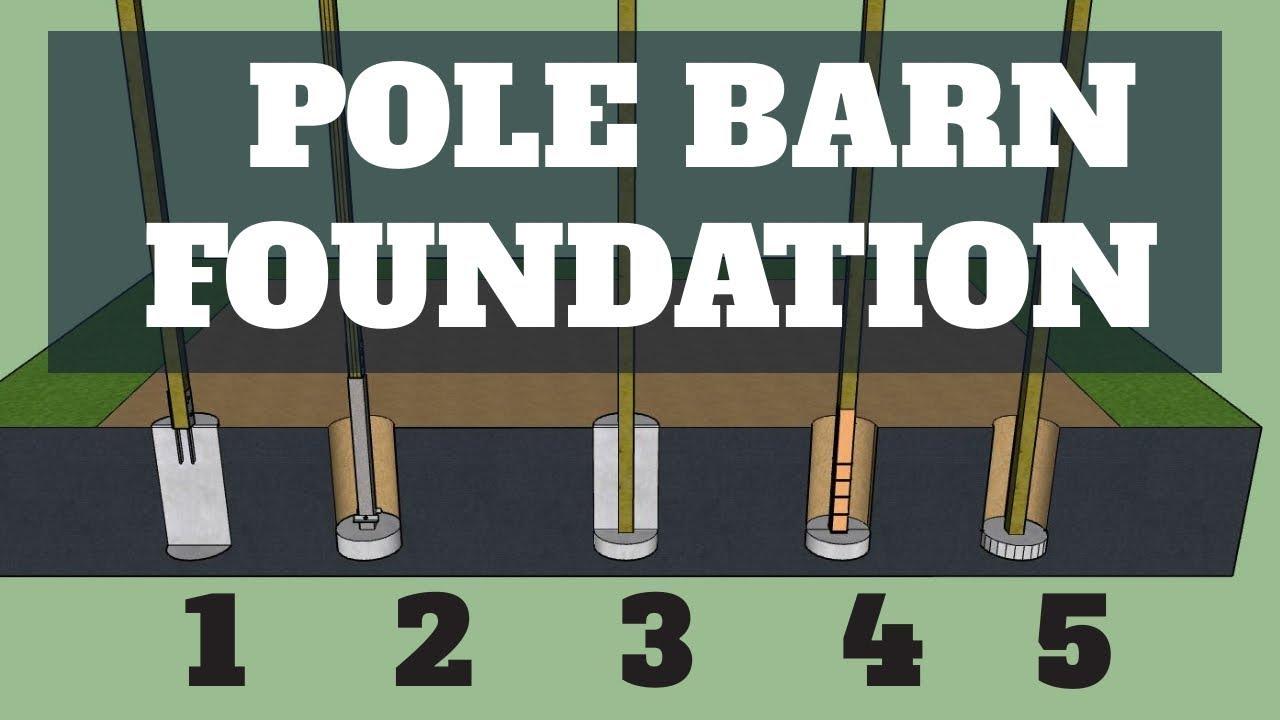 Pole Barn Foundation Options Updated Youtube