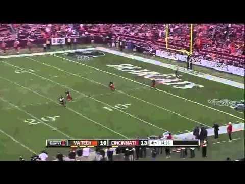 Ralph Abernathy- Cincinnati - HB / KR - 2012 Virginia Tech Game