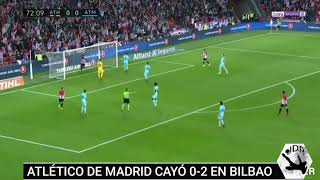 Goles Athletic de Bilbao 2-0 Atlético de Madrid (Iñaki Williams + Kenan Kodro)