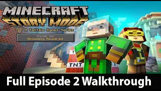 Minecraft Story Mode Episode 2 Full Walkthrough NO Commentary w/ Ending