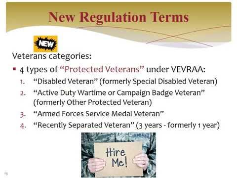 OFCCPs New Veteran/Disability Regulations Are Now in Effect. Are You Ready?