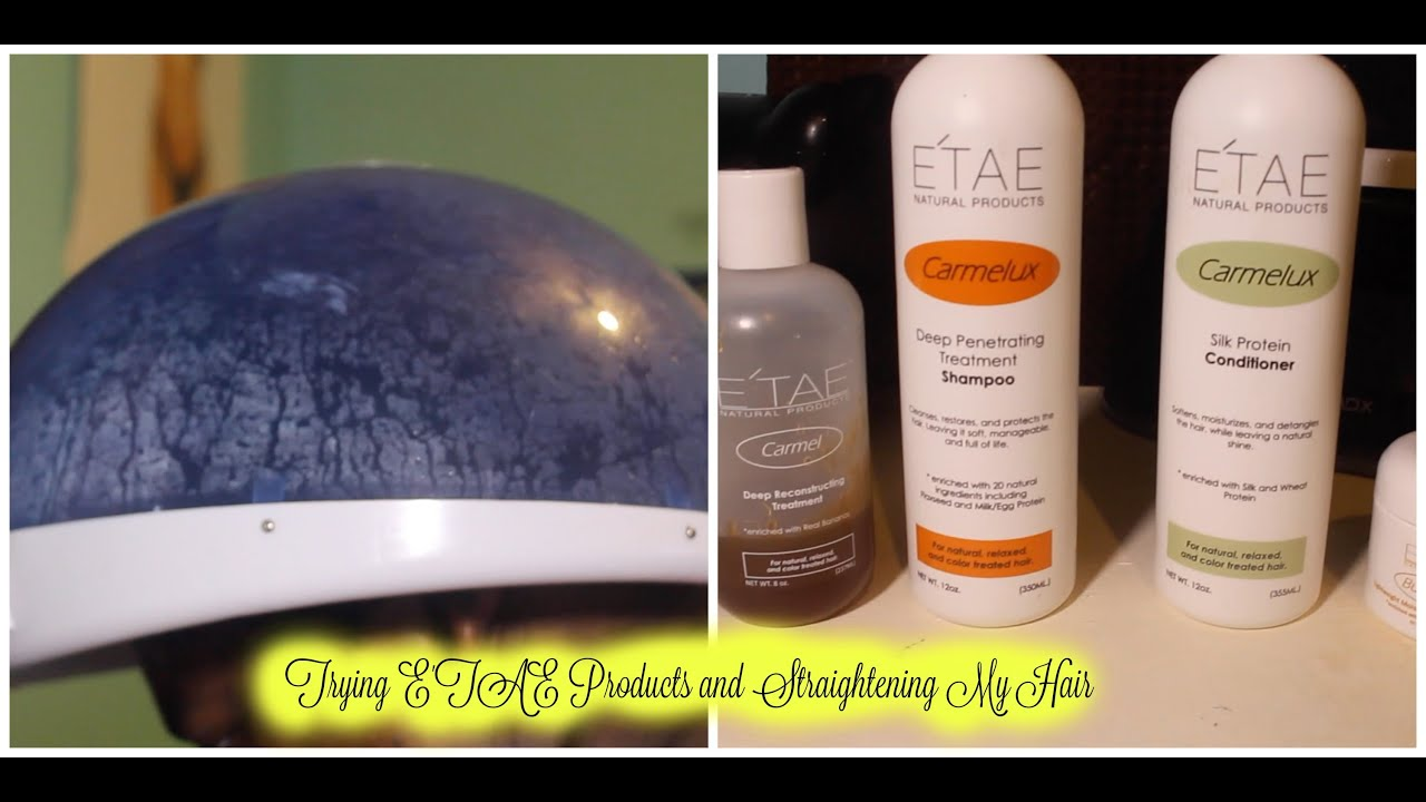Using E'Tae And Straightening My Natural Hair
