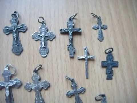 Мои серебренные крестики + посылка.My silver crosses + the parcel.