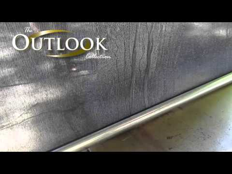 Outdoor blinds (track style awnings) - water/rain protection