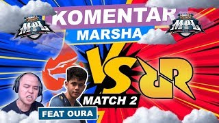 AURA VS RRQ MATCH KE-2!!! LEMON MAKE KARRIE ? ft. Oura