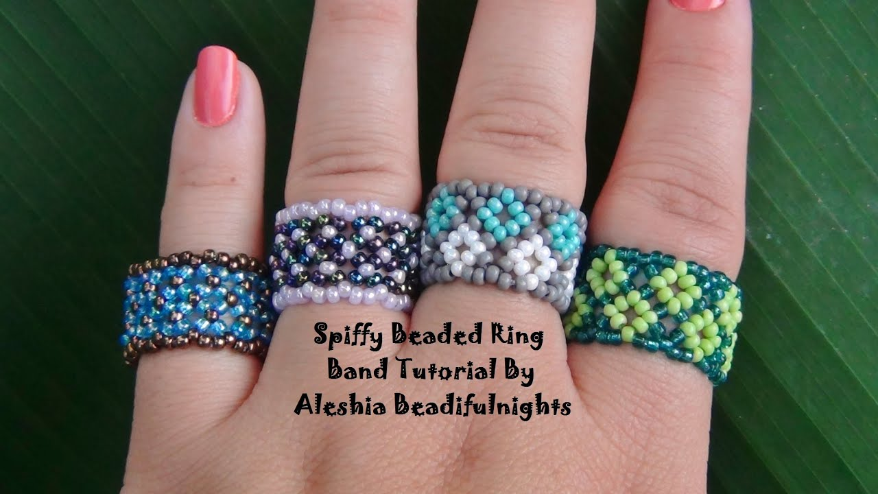 step ring beaded youtube by rings tutorial watch