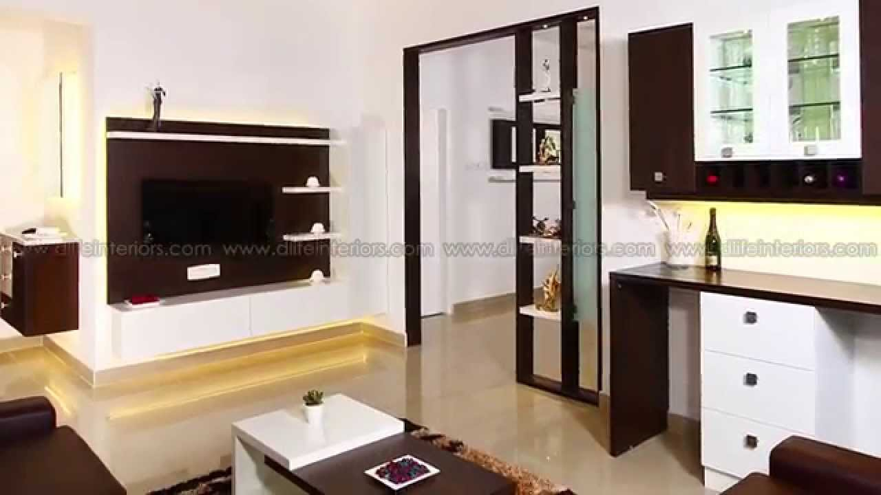 interiors of a fully furnished flat by d u0027life at kottayam youtube