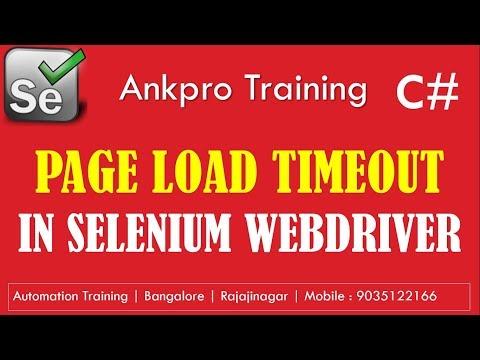 Selenium with C# 38 - Synchronization for webpage loading