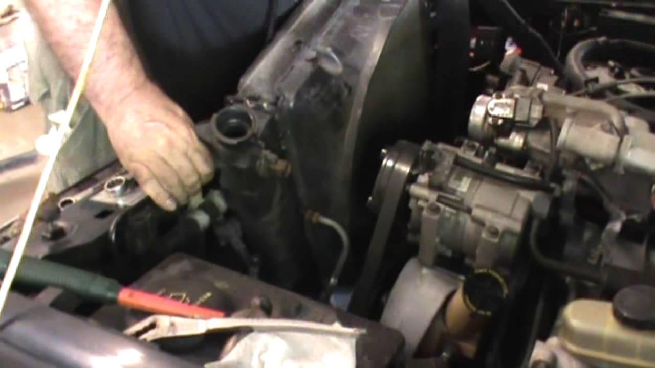 Radiator Replacement Ford Ranger 40 Liter V6 Engine
