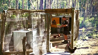 Primitive Chicken Run Build That's Snake and Predator Proof!