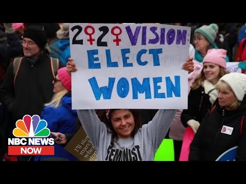 Women's March 2020 Participants Weigh In On President Donald Trump's Impeachment | NBC News NOW