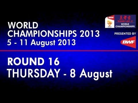 R16 - XD - Shin B.C./Eom H.W. vs J.Fischer Nielsen/C.Pedersen - 2013 BWF World Championships