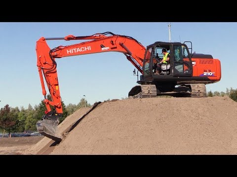 The new Hitachi Zaxis 210X Excavator With Integrated 3D Intelligent Machine Control Launch Demo