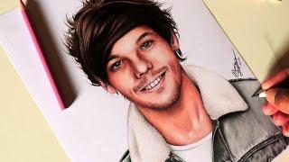 Drawing Louis Tomlinson   Desenhando Louis Tomlinson