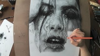 Hyperrealistic Portrait   Pencil Drawing Time-lapse