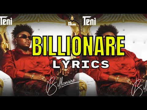 Teni - Billionaire (Official Audio Lyrics)