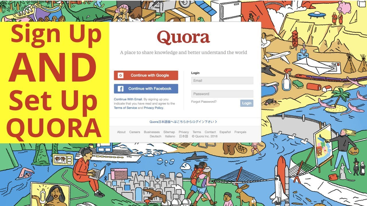 3cecb1e84aa77 Sign Up For Quora   Set Up Your Profile - YouTube