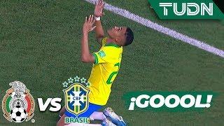 ¡Noche triste! Lázaro anota casi al final | México 1 - 2 Brasil | Mundial Brasil Sub17 Final | TUDN
