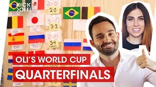 World Cup 2018 Predictions Quarterfinals Uruguay France Brazil Belgium Sweden England Russia Croatia