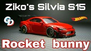 Ziko's Nissan Silvia S15 Rocket Bunny Hot wheels Custom