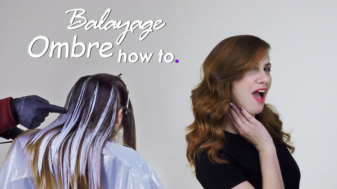 TUTORIAL Beautiful Balayage Ombre Hair Technique ...