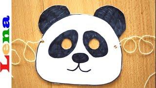 Panda Maske basteln für Kinder 🐼 How to make a panda mask for Children ✂ как сделать маску панды