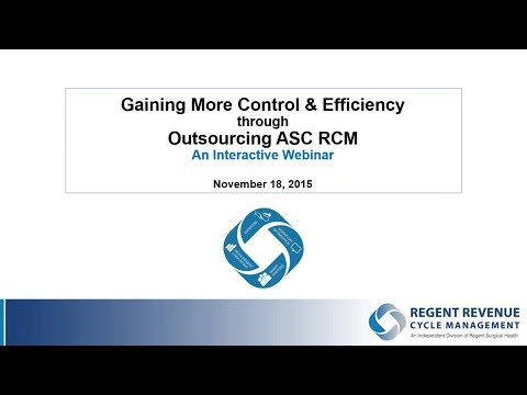 Regent RCM Webinar: Gain More Control Efficiency