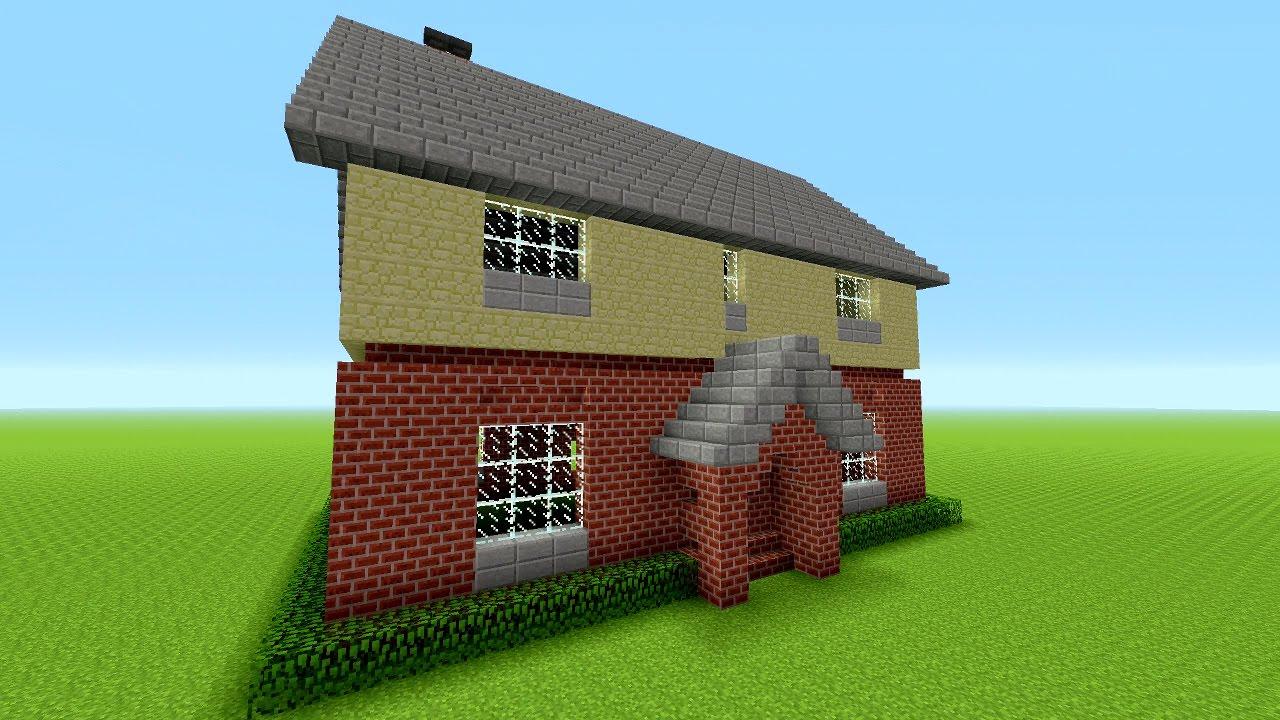 Minecraft: How To Build A Suburban House  Minecraft Brick House  Tutorial