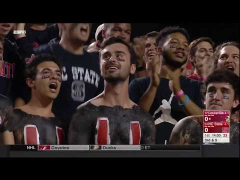 2017.10.05 #17 Louisville Cardinals at #24 NC State Wolfpack Football