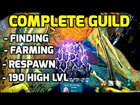 Ark: How To Find, Farm, Force & Respawn 190 Rock Drake Eggs  COMPLETE TUTORIAL  Ark Survival