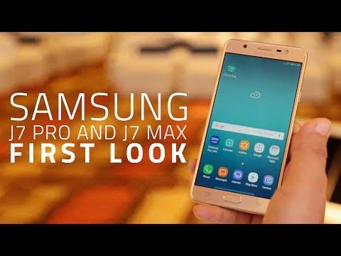 Samsung Galaxy J7 Pro, Galaxy J7 Max First Look | Mid-Range Smartphones with Samsung Pay, Pay Mini