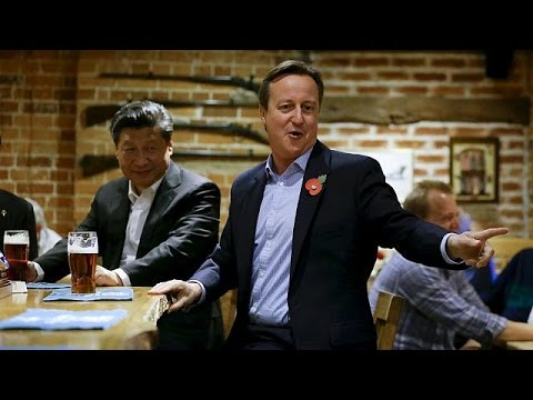 Chinese President and British Prime Minister visit a pub for drinks - no comment