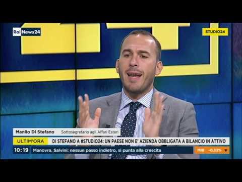 Manlio Di Stefano ospite a Rai News il 4/10/2018