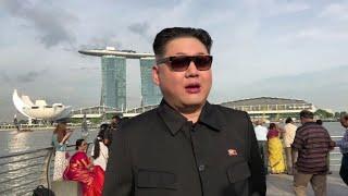 Un imitateur de Kim Jong Un, Howard X, se balade à Singapour thumbnail