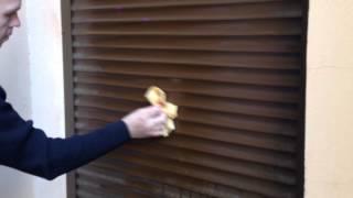Очистка жалюзи от граффити - антиграффити(, 2012-07-24T18:09:00.000Z)