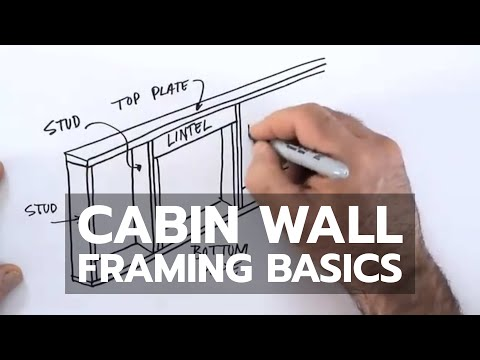 How to Build a Cabin - Wall Framing Basics - YouTube