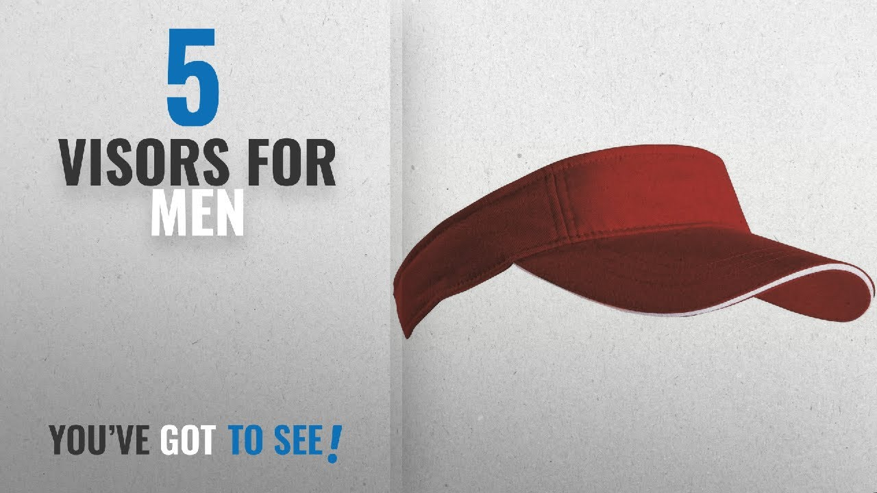 e2e74959c744e Top 10 Visors For Men  2018   SPORTS SUN VISOR SANDWICH PEAK GOLF TENNIS  CAP HAT - 12 COLOURS