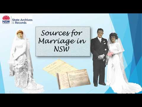 Webinar: Sources For Marriage In NSW