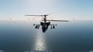 イージス艦vs戦闘ヘリコプター40機 DCS World タイコンデロガ級ミサイル巡洋艦vsKa-50戦闘ヘリ40機